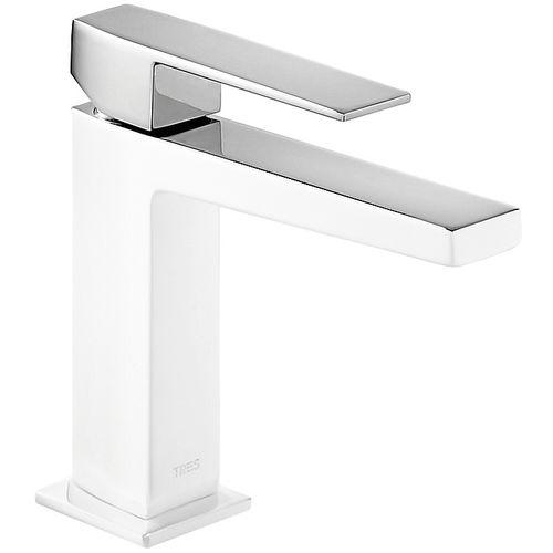 washbasin mixer tap / chromed metal / bathroom / 1-hole