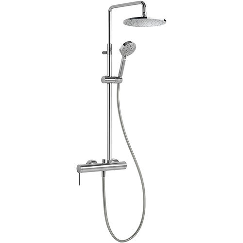 wall-mounted shower set / contemporary / with hand shower / with adjustable shower head
