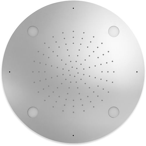 recessed ceiling shower head / round / rain / with chromotherapy
