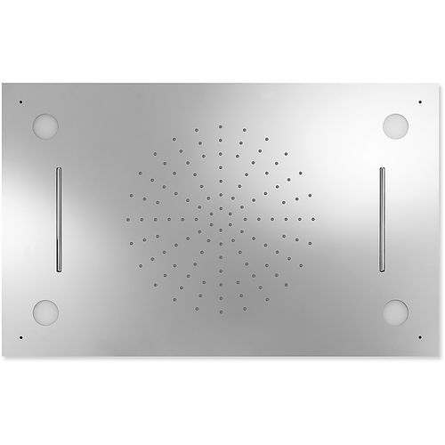 recessed ceiling shower head / rectangular / rain / with chromotherapy