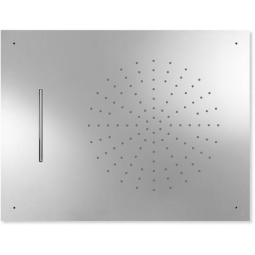 recessed ceiling shower head / rectangular / rain