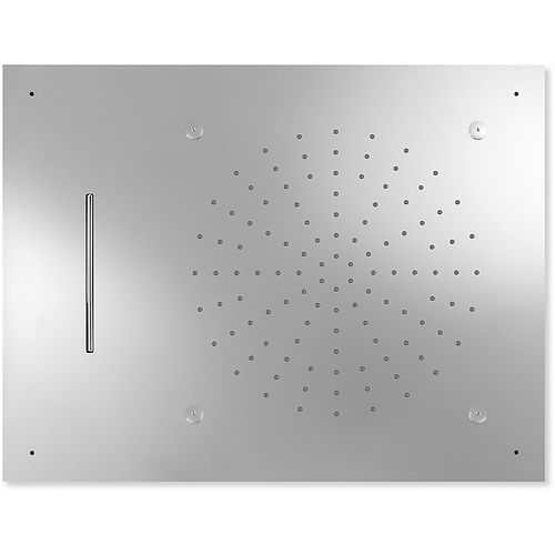 recessed ceiling shower head / rectangular / rain