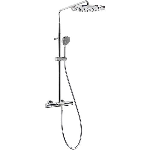 wall-mounted shower set / contemporary / with hand shower / thermostatic