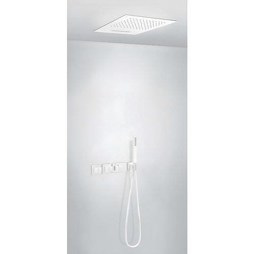 recessed ceiling shower set / wall-mounted / contemporary / with hand shower
