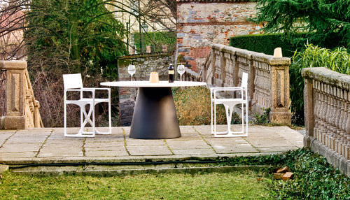 contemporary dining table / wooden / polyethylene / lacquered wood