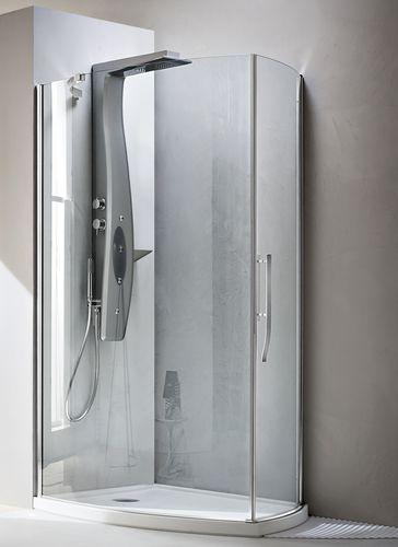 swing shower screen / curved / corner / glass