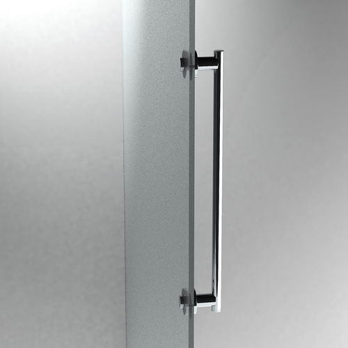 Glass door handle / brass / contemporary / chrome TECNO: 154500 Sonia Bath