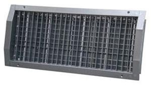 steel ventilation grill / stainless steel / rectangular / adjustable