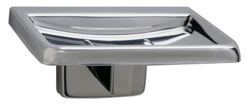 wall-mounted soap dish / stainless steel / for hotels