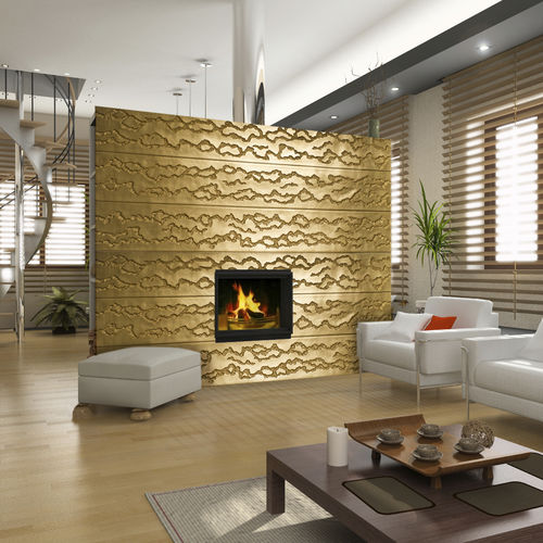 composite decorative panel / wall-mounted / textured