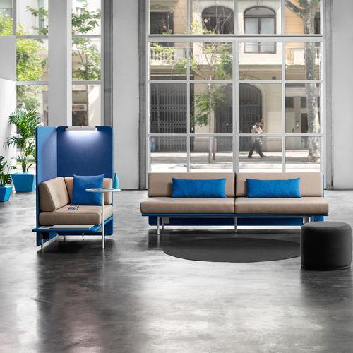 Contemporary sofa / fabric / commercial / 4-seater MEET UP! OFITA