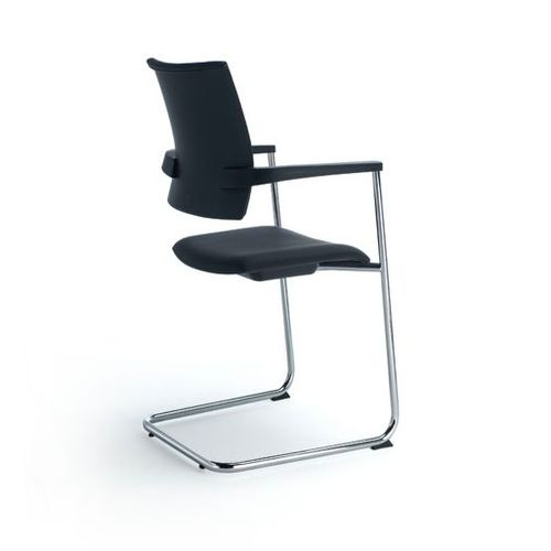 Contemporary office chair / with armrests / upholstered / cantilever DHARA by Lluscà OFITA