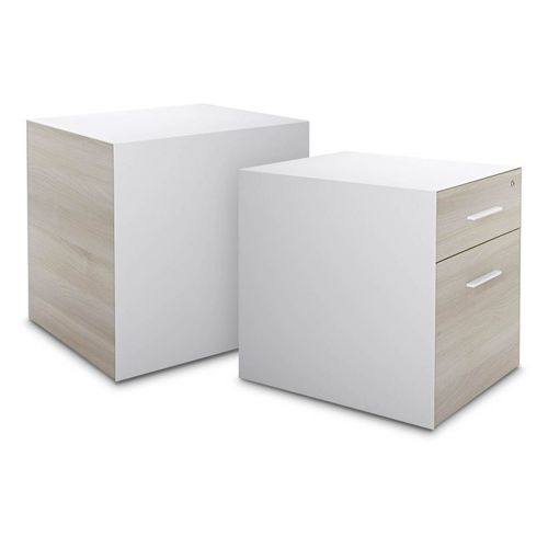 wooden office unit / 3-drawer / 2-drawer / key type