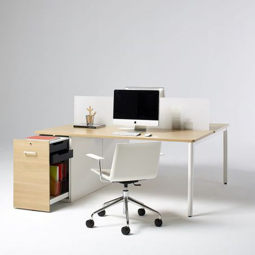 Workstation desk / laminate / contemporary / commercial DISTRICT OFITA