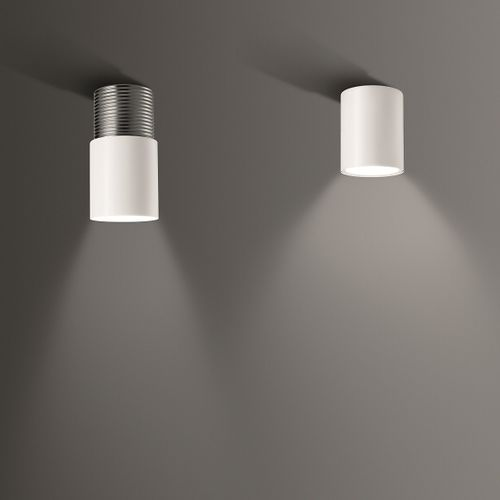 surface mounted downlight / LED / round / lacquered metal