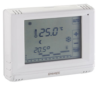 programmable thermostat / digital / recessed wall / for heating