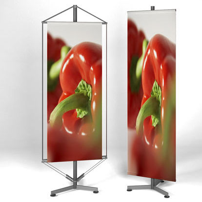 hanging display panel / outdoor / stainless steel