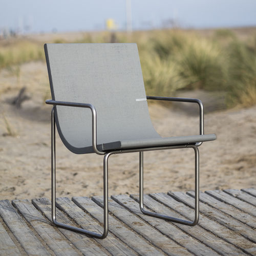 Bauhaus design chair / with armrests / ergonomic / recyclable
