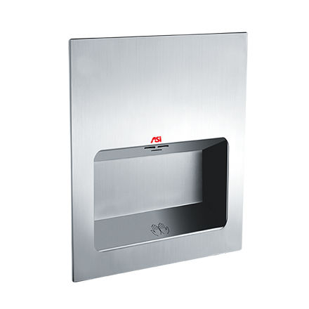 automatic hand dryer / built-in / stainless steel / high-speed