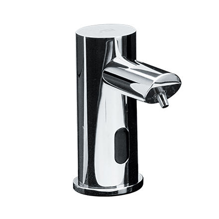 commercial soap dispenser / built-in / chromed metal / foam