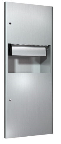 built-in paper towel dispenser / metal / with trash can / electronic