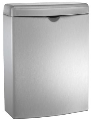 hygienic trash can / stainless steel / contemporary