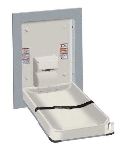 plastic diaper changing station / wall-mounted / commercial