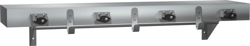 wall-mounted coat rack / contemporary / stainless steel / commercial