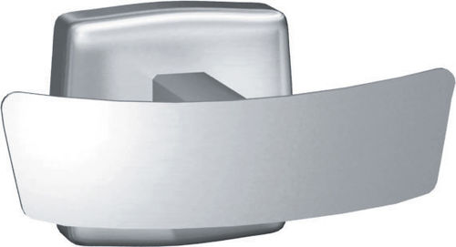 contemporary coat hook / stainless steel / double