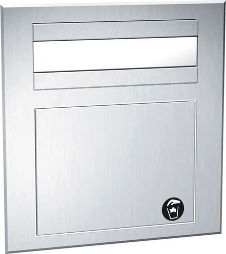 wall-mounted paper towel dispenser / stainless steel / with trash can