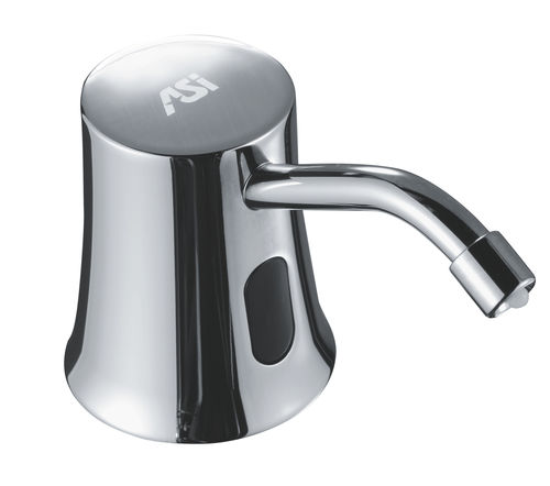 commercial soap dispenser / free-standing / stainless steel / manual