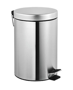hygienic waste bin / floor-mounted / stainless steel / foot-operated