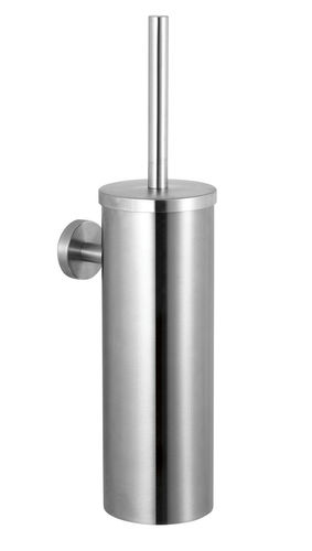 metal toilet brush / wall-mounted / with towel rack