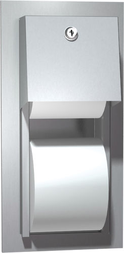 built-in toilet paper dispenser / stainless steel