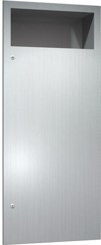 hygienic waste bin / built-in / stainless steel / contemporary