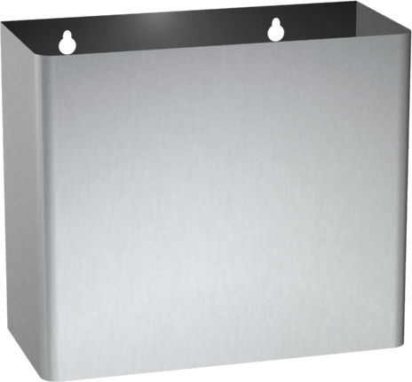 hygienic waste bin / wall-mounted / stainless steel / contemporary