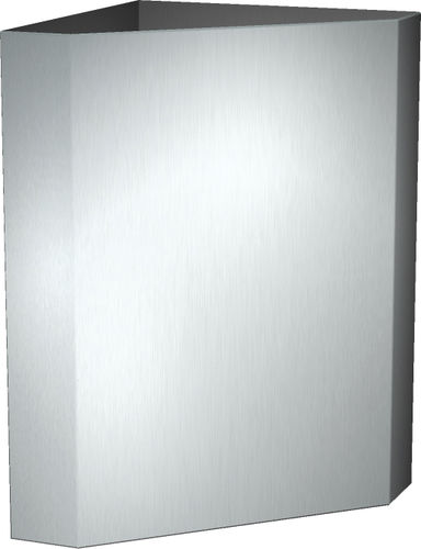 public waste bin / wall-mounted / stainless steel / contemporary