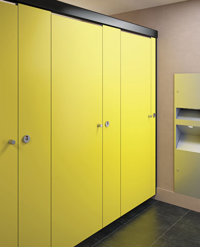 public sanitary facility toilet cubicle / steel