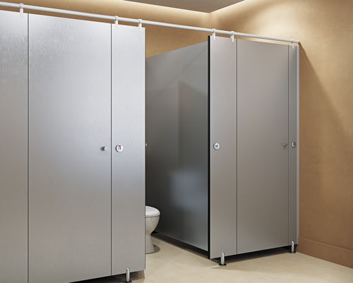 public washroom toilet cubicle / stainless steel