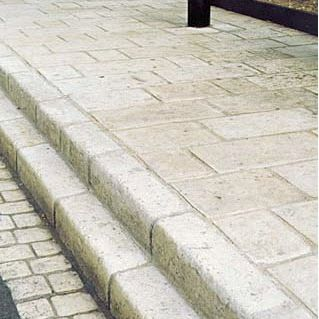 sidewalk edge / engineered stone / rectangular
