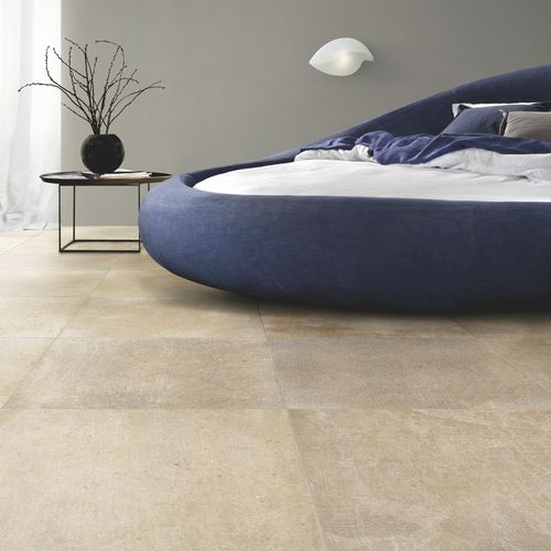 indoor tile / for floors / porcelain stoneware / brushed