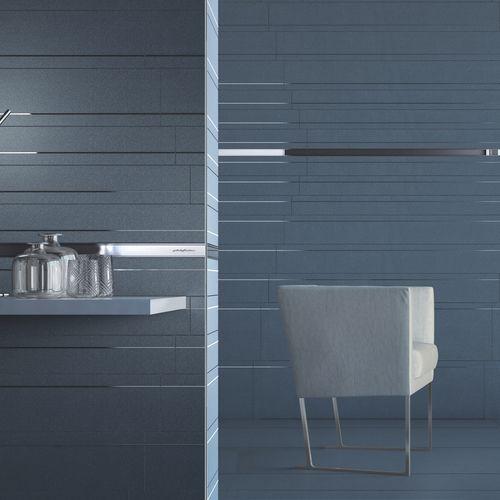 indoor tile / wall / porcelain stoneware / polished