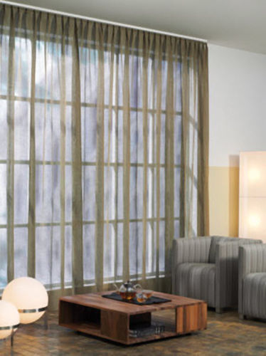 cord-operated curtain track / for drapes / home / window