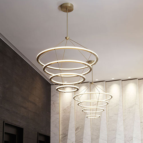 contemporary chandelier / steel / acrylic / LED