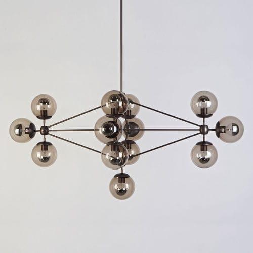 Contemporary chandelier / glass / aluminum / LED MODO DIAMOND by Jason miller Triode Design