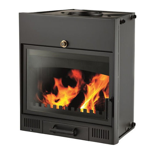 wood-burning boiler fireplace insert / 1-sided / boiler