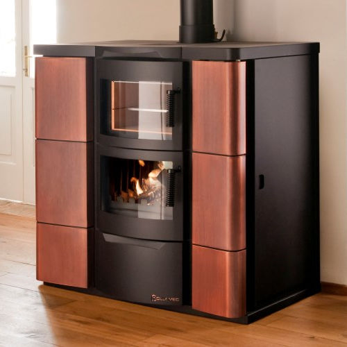 wood heating stove / pellet / contemporary / central