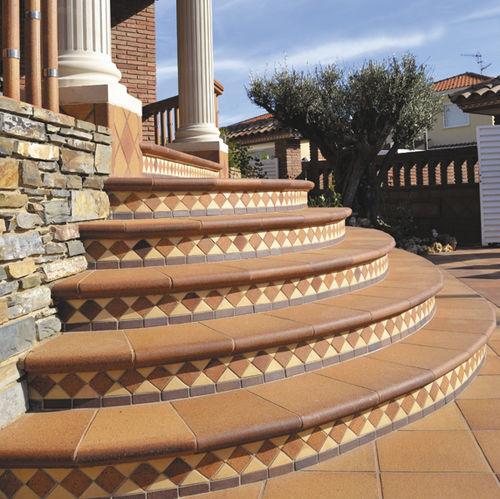 Step tile / outdoor / floor / ceramic NATURAL GRES de BREDA - Terraklinker