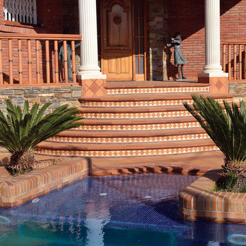 terracotta balustrade / outdoor / for patios / for stairs