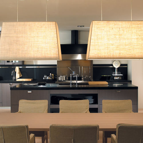 contemporary kitchen / ash / island / matte